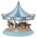 Carrousel musical miniature Mr Christmas avec mécanisme musical électronique - Référence de ce carrousel musical miniature Mr Christmas : 79151