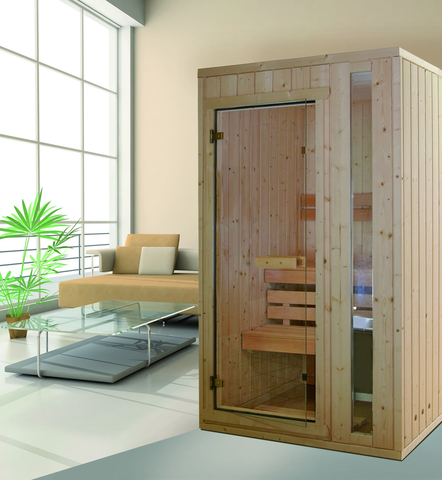 Sauna traditionnel basse consommation arca helo family - Maison et spa ...