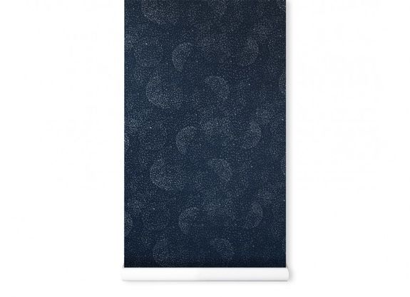 WALLPAPER NOBODINOZ 130GSM 52X1005 GOLD BUBBLE/NIGHT BLUE
