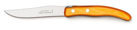 "COUTEAU A STEAK ORANGE ""CLAUDE DOZORME"""