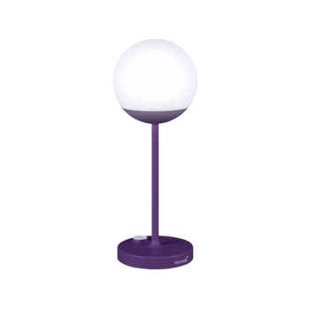 LAMPE A POSE MOOON H40 AUBERGINE