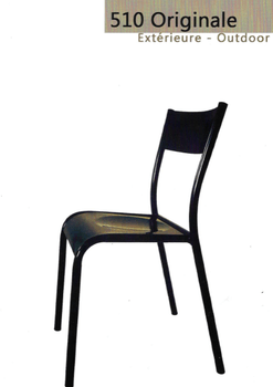 CHAISE 510 ORIGINALE OUTDOOR NOIR