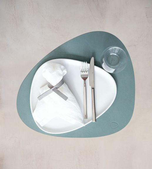 SET TABLE MAT CURVE L 37X44CM NUPO PASTEL GREEN