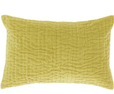 COUSSIN VAGUE 45X45CM CITRON