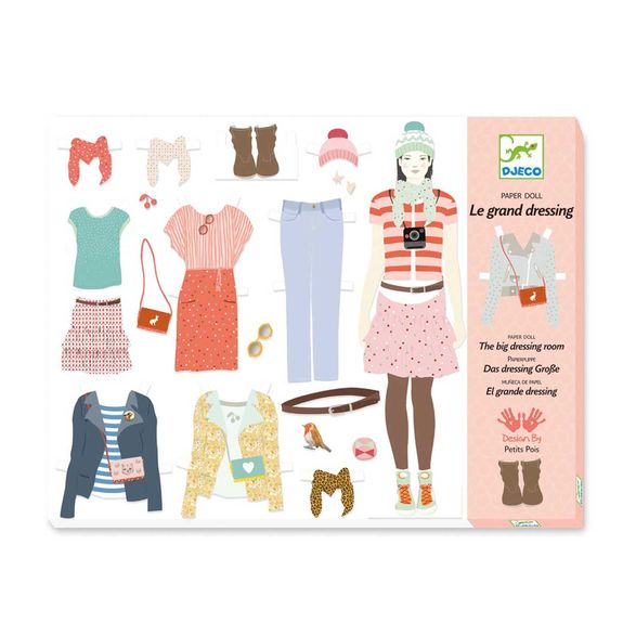 Coffret paper doll Le grand dressing