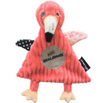 Doudou plat Flamingos le flamant rose