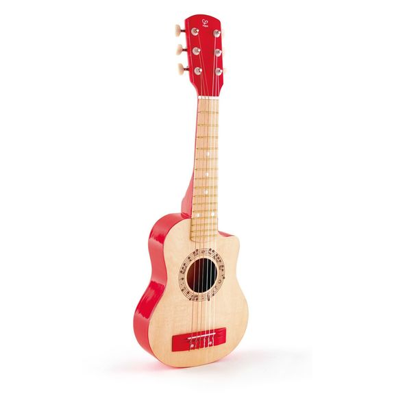 Guitare rouge vif