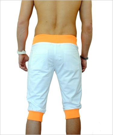 Bermuda homme MISTER FASHION lure2 blanc/orange