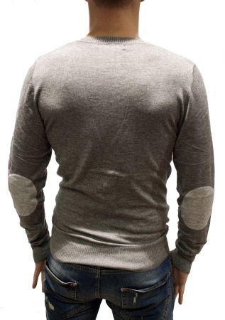 cardigan homme a coudieres  gris tk817