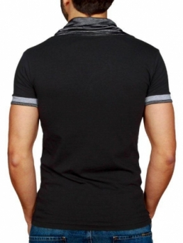 T-shirt homme fashion noir R231221