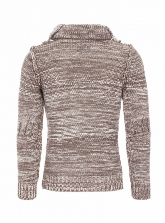 pull en laine homme fashion brown 5603