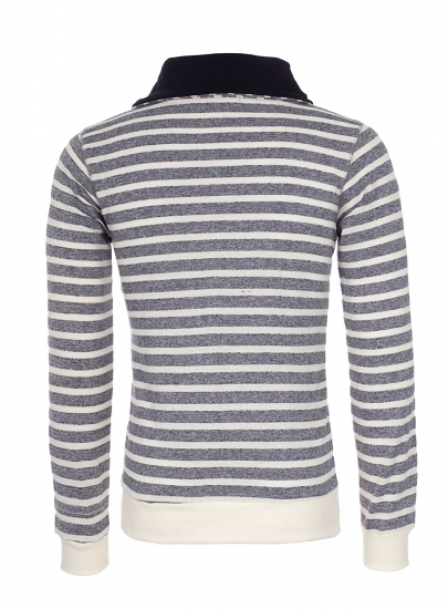 Pull homme fashion gris rayé