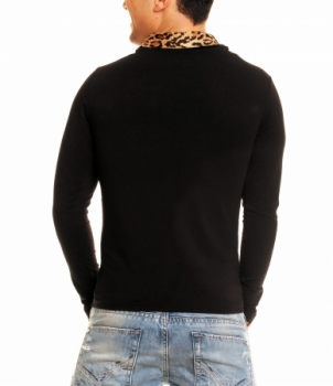 pull homme panthère 3084