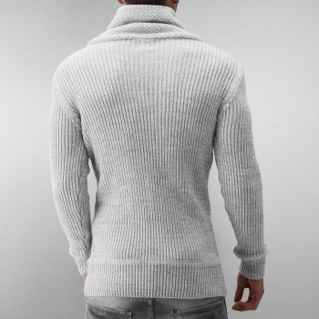 Pull homme classe gris 7129