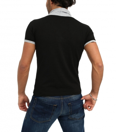 Tee-Shirt homme tazzio blk/gris