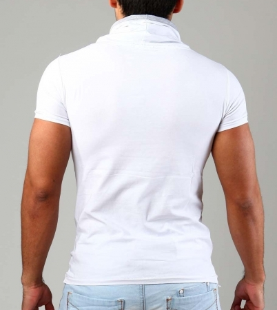 t-shirt homme fashion blanc 1257