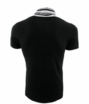 T-shirt homme col fashion noir