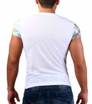t-shirt homme fashion blanc 158