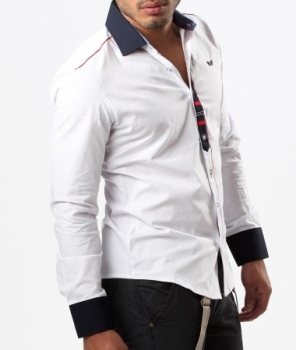 chemise homme classe blanche 8037