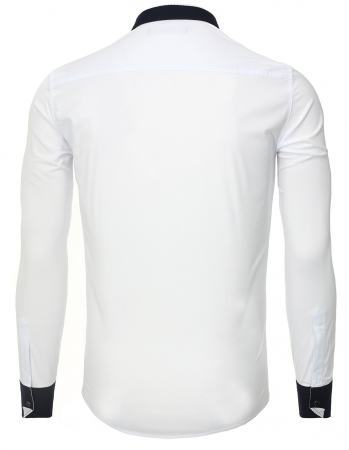 chemise fashion italienne homme blanche 8247