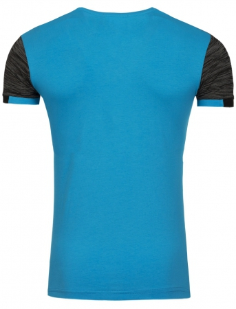 T-shirt col V homme fashion bleu  187
