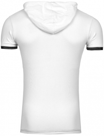 T-shirt à capuche homme fashion blanc 188