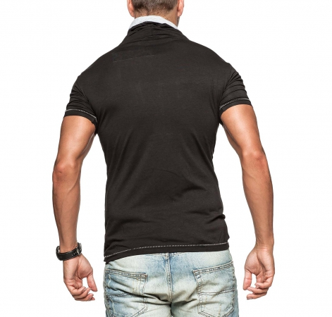 t-shirt homme fashion noir 1257