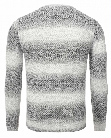 Pull homme maille fine Blanc  701