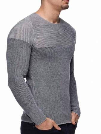 Pull homme léger gris 781