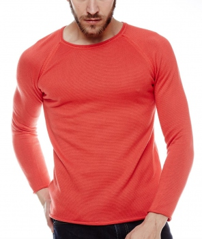 Pull homme rouge pastel TEMPO 770