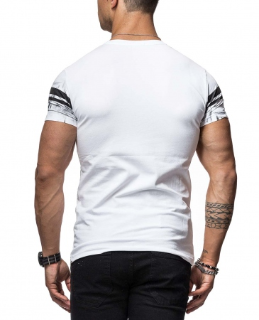 T-shirt homme fashion blanc 900