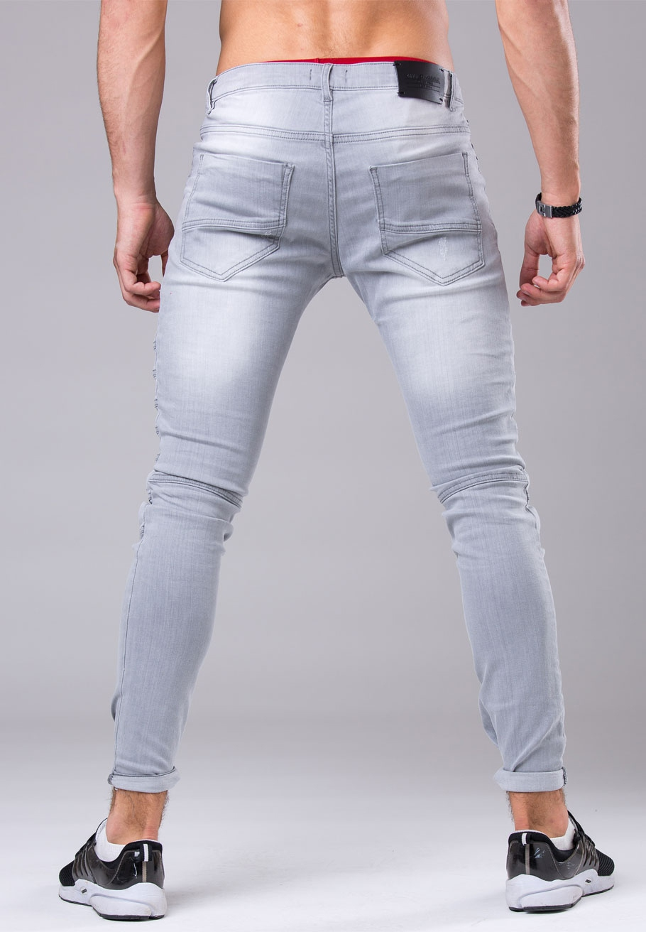 299664fced9bf jeans homme fashion gris clair 171