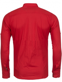 chemise homme italienne rouge BIONY 6202
