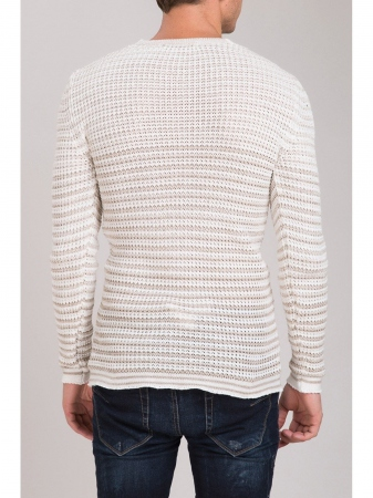 pull homme beige  crazy 3029