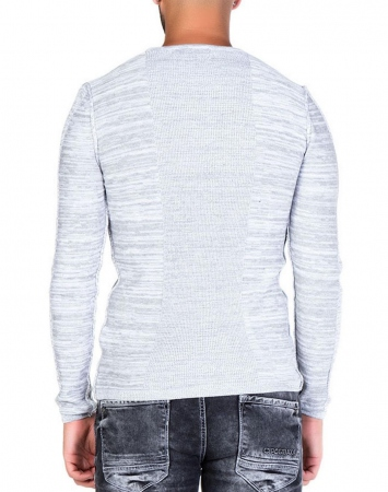 pull homme gris clair step 121