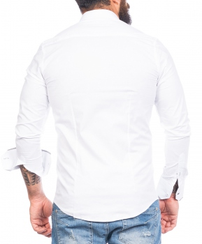 chemise italienne homme blanche 519