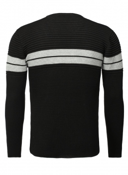 Pull homme noir  RAYANNOS 592