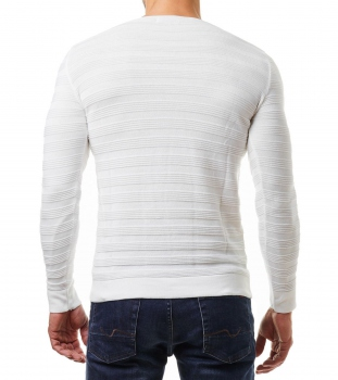 Pull homme blanc ORY 723