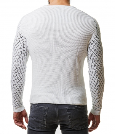 Pull homme blanc olympe 146
