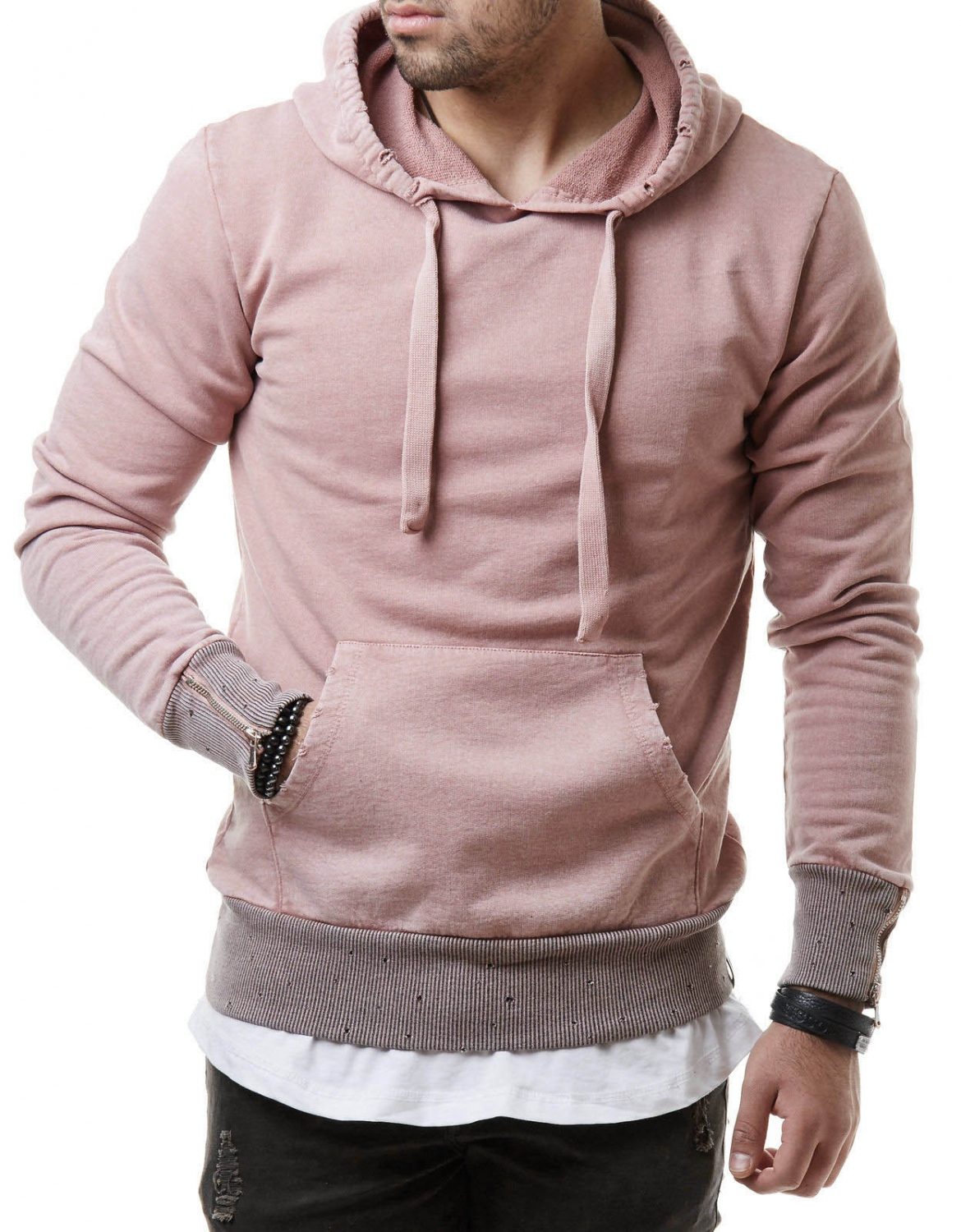 e7a1ab11815cf sweat homme rose,Sweat 脿 capuche d茅chir茅 homme rose 264
