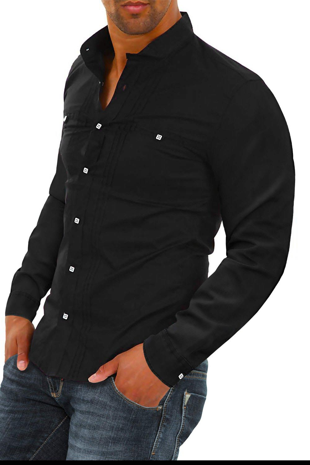 chemise en jean noir pour homme site de v tements en jean la mode. Black Bedroom Furniture Sets. Home Design Ideas