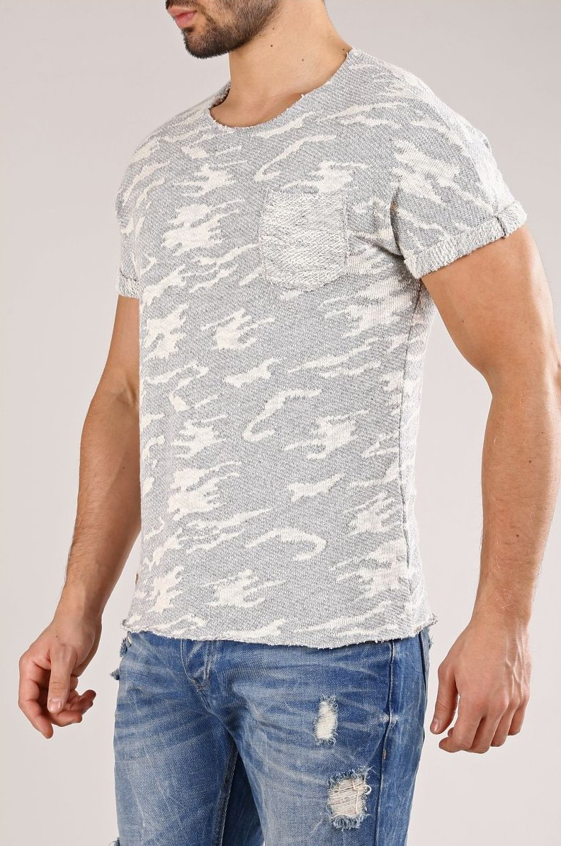 T-shirt homme camouflage gris 169 41acfb9f6f63