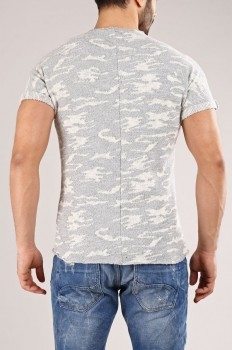T-shirt homme camouflage  gris 169
