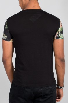T-shirt homme tropical noir 6252
