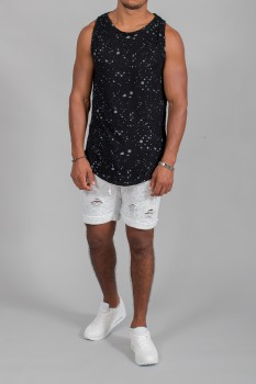Short homme blanc destroy 3468