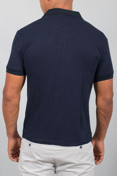 polo homme basic bleu navy