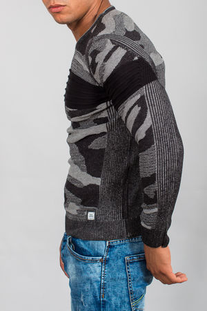 pull homme camouflage noir 3092