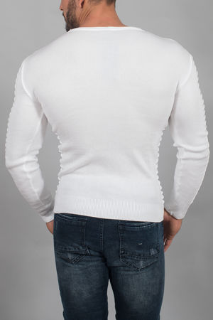pull homme blanc 3052