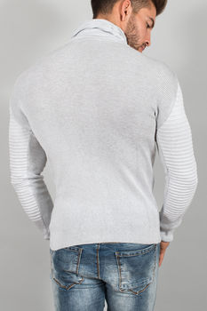 pull homme fin gris clair 576