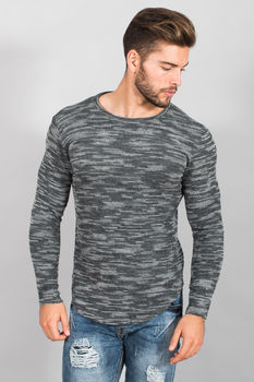 pull  homme gris T1014